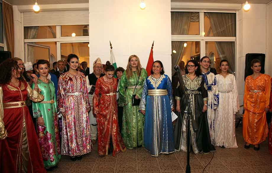 Moroccan and Bulgarian traditional women's costumes - breathtaking beauty!