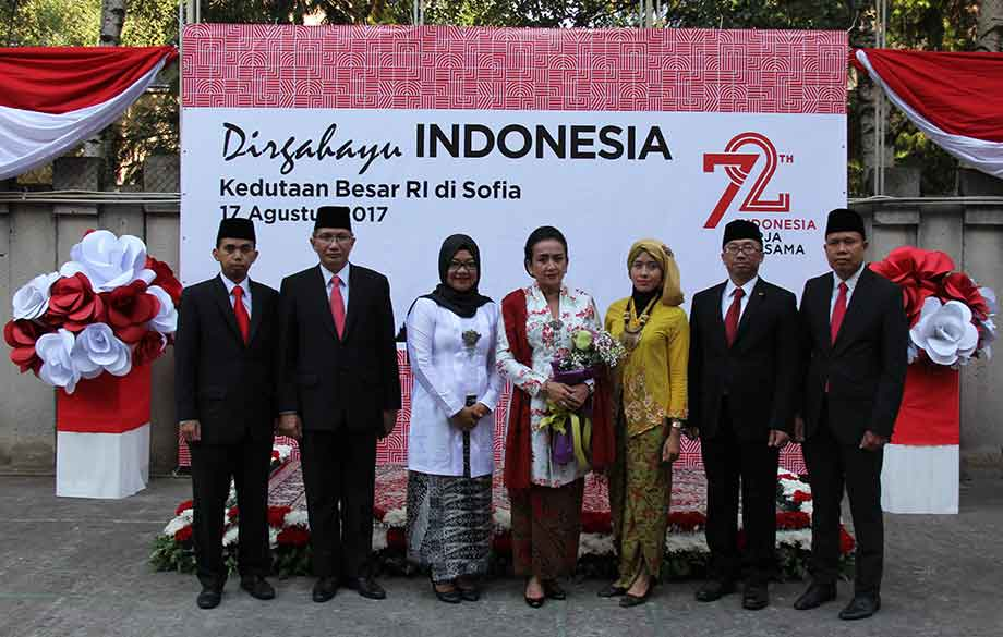 A Ceremony Marking the National Day of Indonesia