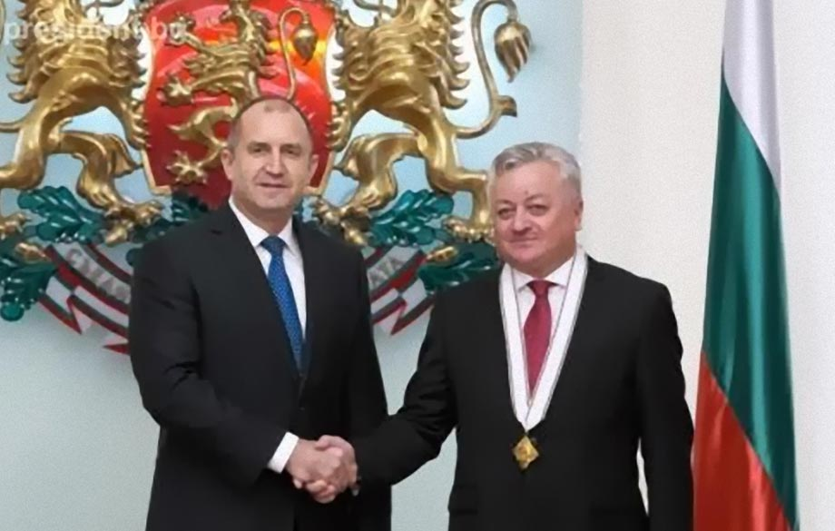 The Ambassador of Moldova to Bulgaria was awarded the Madara Horseman Order First Degree