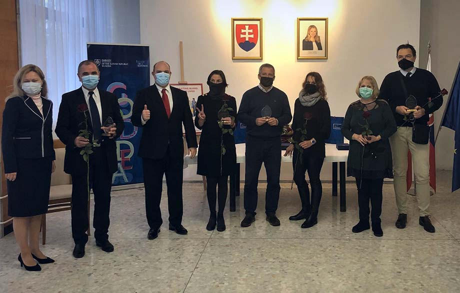 Awarding Blood donors at the Slovak Embassy